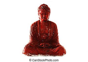 buddah enlightened - an enlightened buddah plaster cast -...