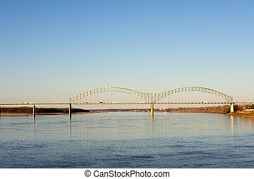 Hernando deSoto Bridge - Hernando deSoto bridge over...