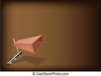 The Musical Cowbell on Dark Brown Background - Music...