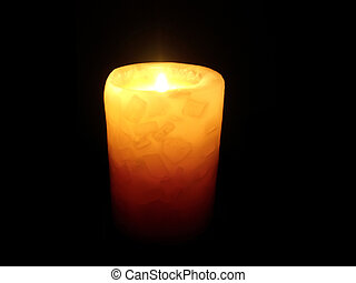 candle light - soft candle light on black background