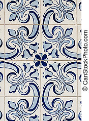Ornamental old tiles - Ornamental old typical tiles from...