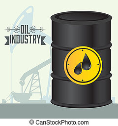 oil industry - Illustration of the oil industry, oil...