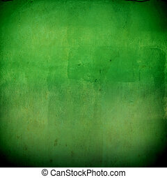 Abstract grunge green wall for background