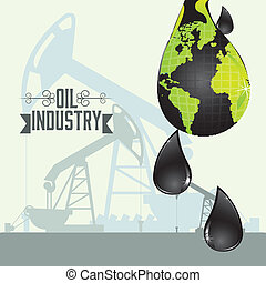oil industry - Illustration of the oil industry and its...