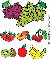fruits cliparts illustration