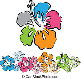 Original: hawaiian flowers illustration
