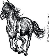 horse running illustration - horse runnigillustration