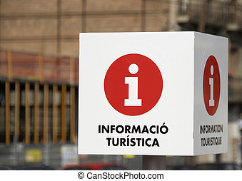 Tourist Information Sign - A Tourist Information sign...