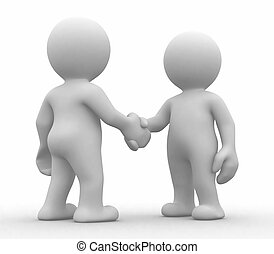 Simple deal - 3d abstract humans that make a deal