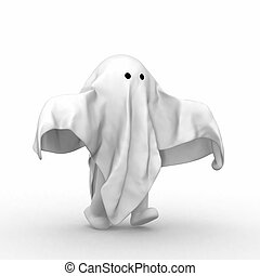 Ghost - 3d human with a cloth like ghost