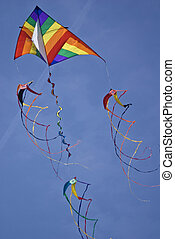 Colorful Kite On Sunny Day