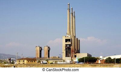 power station in barcelona, spain