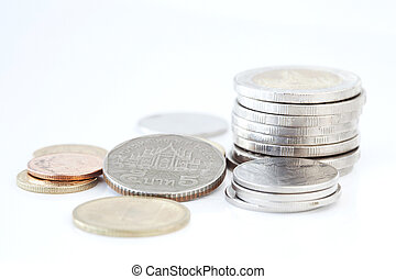 Stack of Thai coins
