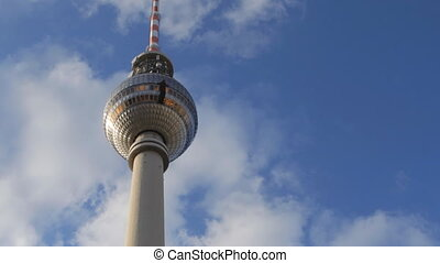 the large tv tower in berlin, germany