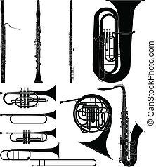 viento, instrumentos
