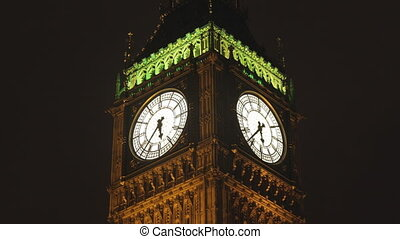 timlapse of big ben and houses of parliament in london shot...