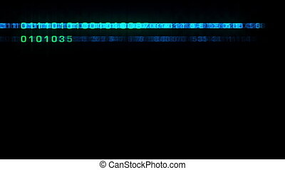 binary code growing across the screen