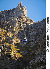 Cable car to a high mountain - Cable car to table mountain...