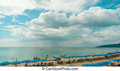 Phuket beach - View to the beach of Phuket Island, Thailand....