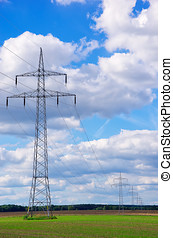 Power Poles And Transmission Lines - Distribution of...