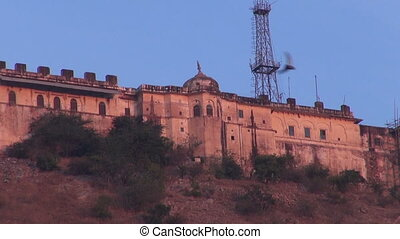Nahargarh Fort on hill in Jaipur,