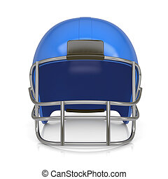 American football helmet. Isolated render on a white...