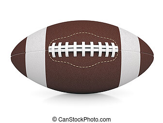 Ball for American football. Isolated render on a white...