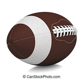 Ball for American football Isolated render on a white...