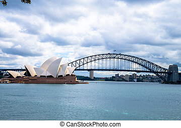 Opera house and Harbour bridge in Sydney Australia1