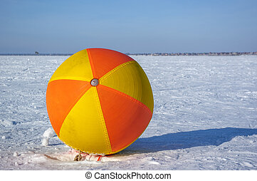 ball on the snow field