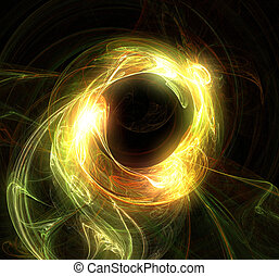 Fine glare - abstract flame fractal