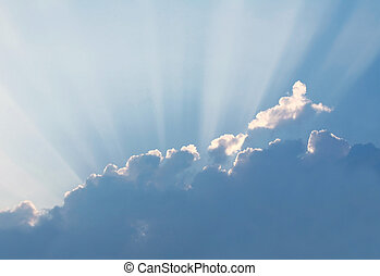 Sun Rays - Rays of Sun Shining from Behind Clouds