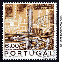 Postage stamp Portugal 1970 Catalytic Cracking Tower -...
