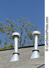 Two Residential Roof Exhaust Vents - A pair of residential...