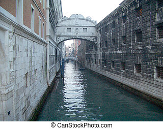 View over the Bridge of Sighs, Venice, Italy