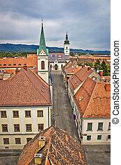 Historic upper town in Zagreb