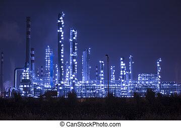 refinería, industrial, planta, industria, caldera,...