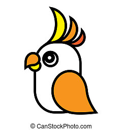 Bright parrot. - Vector illustration.