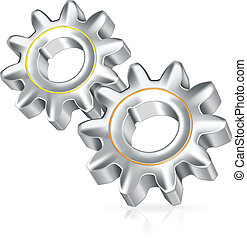 Two gears icon, icon