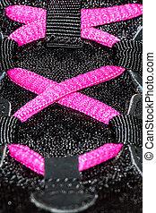 shoe laces - sport shoe laces in close-up