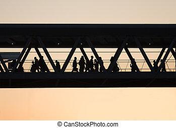 peão, ponte