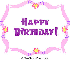 Frame with Happy Birthday Vector