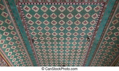 ornate ceiling ornaments in temple