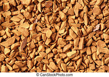 Freeze dried coffee - Close up golden color freeze dried...