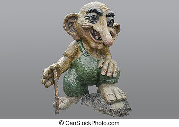 norwegian troll - a troll statue in bergen, norway