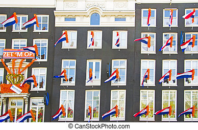 Decorated facades in Amsterdam the Netherlands on occasion...