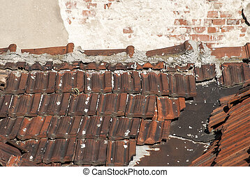 Old house roof
