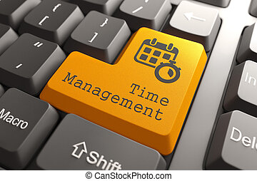 "Keyboard with ""Time Management"" Button."