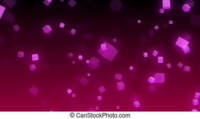 Falling cubes loop - Purple background with falling cubes,...