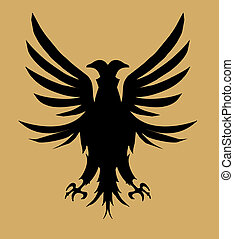 tribal tattoo eagle shield vector art